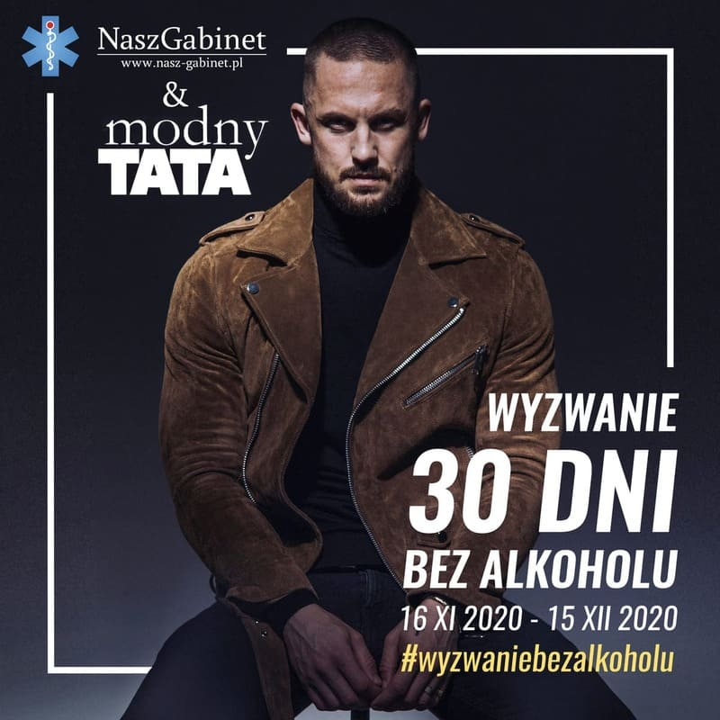 grafika okładka modny tata i wyzwanie bez alkoholu 30 dni