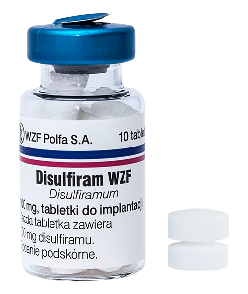 disulfiram wzf, tabletki do implantacji, pakiet podstawowy